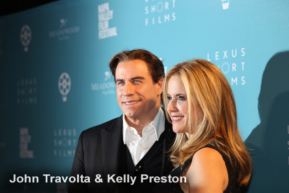 John Travolta and Kelly Preston at the 2015 NVFF Celebrity Tributes